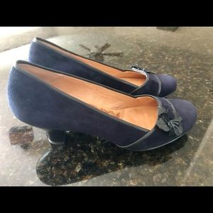 Sofft Navy Suede & Leather Heels LIKE NEW